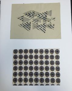 Board 12. My final samples in my portfolio from my most recent hand it #aub #bahonstextiles #textiles #print #inspiration #gearsandcogs #portfolio