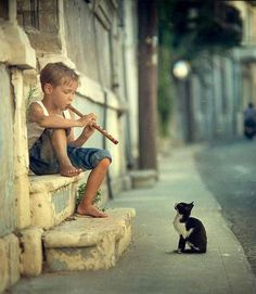 boy & cat 너무 귀여운 사진