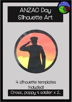 Home :: Grade / Year Level :: Primary Education :: Year 2 :: ANZAC DAY silhouette art template Remembrance Day Posters, Remembrance Sunday, Australia Crafts, Australia Day, Soldier Silhouette, Silhouette Art, Primary School Art, Primary Education, Anzac Soldiers