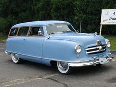 1952 Nash/Rambler Wagon...My parents had a car like this when I was very young.