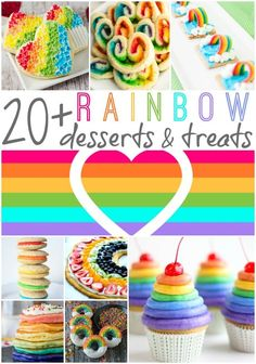 #Rainbow Desserts Roundup | Rainbow #desserts are always bright and fun to make anytime but they are perfect for St. Patrick's Day, birthday parties. The Ultimate Pinterest Party, Week 87