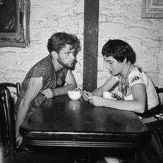 Beatniks in the Gaslight coffee shop in Greenwich Village (circa 1958)