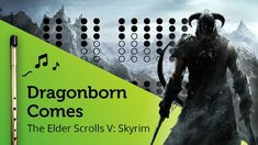 Dragonborn Comes (Skyrim / Morrowind Theme) on Tin Whistle D + tabs tutorial Tin Whistle, Sheet Music, Music Sheets, Elder Scrolls, Skyrim, Irish, Portraits, Film, Tablature