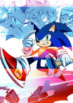 Sonic, shadow, amy, tails, knuckles :D