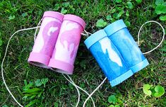 Cardboard tube binoculars - 15 Earth Day Crafts for Kids I Crafts and Activities for Kids - ParentMap Earth Day Crafts, Rainy Day Crafts, Nature Crafts, Fun Crafts For Kids, Preschool Crafts, Binocular Craft, Modele Pixel Art, Binoculars For Kids, Toilet Paper Roll Crafts