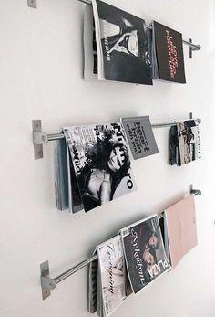 portes serviettes accrocher magazines au mur