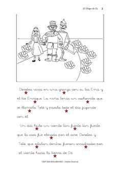 Cuento con actividades de lectoescritura. CEIP SAN WALABONSO de Niebla (Huelva).
