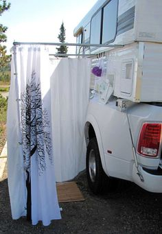 [orginial_title] – Truck Camper Magazine The Motorcycle Rally Dream Machine Alaskan Camper Outdoor Shower Solution, www. Truck Camper Shells, Truck Bed Camper, Popup Camper, Camper Van, Motorcycle Camping, Truck Camping, Camping Gear, Camping Stuff, Slide In Truck Campers