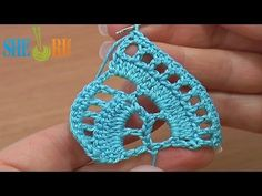 ▶ Stripy Lace to Crochet Tutorial 1 Part 1 of 2 Crochet Tape Lace - YouTube