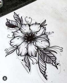 I like the leaves Tattoo Design Drawings, Flower Tattoo Designs, Tattoo Sketches, Flower Tattoos, Art Sketches, Girly Tattoos, Pretty Tattoos, Beautiful Tattoos, Body Art Tattoos