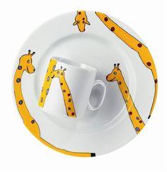 Porcelain Paint Pen inspiration children's giraffe mug and plate