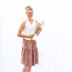 Salvia Skirt Produktbild Boho Stil, Salvia, Skirts, Patterns, Side Purses, Sewing Patterns, Block Prints, Sage, Skirt
