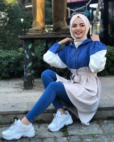 [ hijab 2020 Image may contain: 1 person, shoes and outdoor. Hijab Fashion Summer, Modern Hijab Fashion, Hijab Fashion Inspiration, Muslim Fashion, Modest Fashion, Fashion Outfits, Tumblr Outfits, Modest Dresses, Modest Outfits