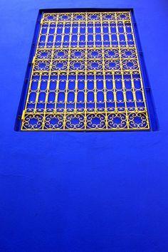 Bleu majorelle, Marrakech, Morocco #architecture #blue