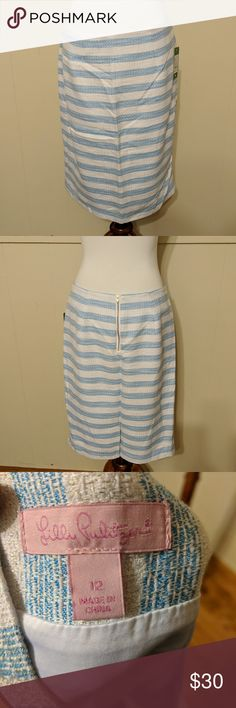 Lilly Pulitzer Blue and White Striped Skirt Sz 12 Gorgeous Lilly Pulitzer Blue and white striped skirt. Super preppy. Fully Lined. Sz 12   These items come from a smoke free home   Please ask questions before purchasing.   I will be listing many items over the next few months. I am pairing down my closet. My loss is your gain! Lilly Pulitzer Skirts