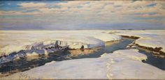 Julian #Falat, Śnieg, 1907, wł. Muzeum Narodowe w Krakowie // Snow, owned by the National Museum in Krakow