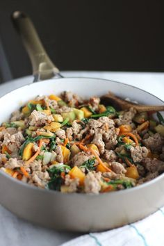 Turkey Apple Breakfast Hash - a paleo, gluten-free, AIP hash that uses butternut squash instead of potatoes! Super healthy and SO good! | fedandfulfilled.com