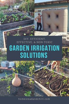 A garden sucks up water, but watering doesn't need to suck up all your time! Let's discuss some efficient DIY irrigation methods, including: soaker hoses, drip irrigation, converting sprinklers to drip, clay ollas, hand-watering, and rainwater capture.