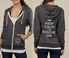Keep Calm Rescue On Paw Print Studded Zip Up Fleece by KindLabel, Apparently is no longer available on Etsy.