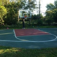 Sport court on pinterest backyard basketball court for Sport court size