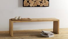 Panca in legno di rovere