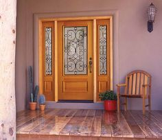 Entry Door Colors With Cactus Plants