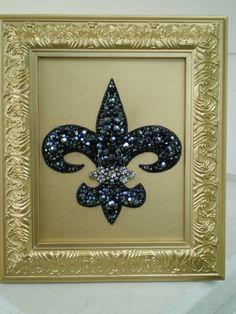 FLEUR-DE-LIS ⚜ Jeweled Framed Art