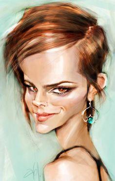 Caricatura de Emma Watson por Abel Joachim Crayon