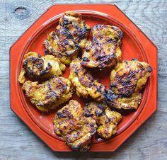 Thai Turmeric Grilled Chicken Recipe (Kai Yang Khamin) - Viet World Kitchen Gout Recipes, Asian Recipes, Cooking Recipes, Healthy Recipes, Gai Yang, Thai Grilled Chicken, Healthy Cooking, Healthy Eating, International Recipes