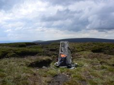 The trig point on Totridge Fell in the Forest of Bowland