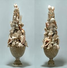 pr antique shell topiary