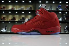 Where To Buy Mens Air Jordan 5 Red Suede University Red Black 136027-602 For 12ebb8a32
