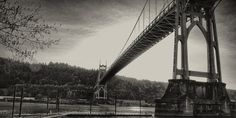 One more (for now) of the St Johns Bridge from Cathedral Park in Portland, OR.