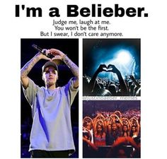 Yes we don't care . Justin has taught as that we can always try to change others opinions but we can't force them to change. So we don't care about the haters.  Haters gonna hate and beliebers gonna love♥