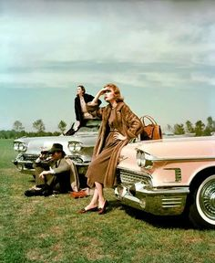FASHION AND CARS, 1950'S.....