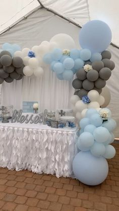Baby Shower Decorations 579205202060493920 - Large balloon garland for boy baptism Source by Baptism Party Decorations, Baby Shower Decorations For Boys, Boy Baby Shower Themes, Baby Shower Balloons, Baby Boy Christening Decorations, Boy Baby Showers, Baby Shower For Boys, Cloud Baby Shower Theme, Christening Themes
