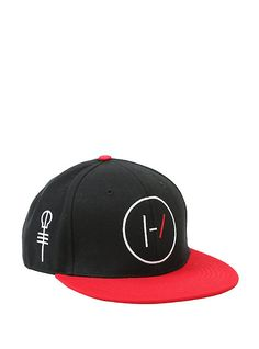 Twenty One Pilots Logo & Skeleton Clique Key Snapback Hat,