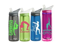 Gymnastics Personalized CamelBak Eddy or 20 Ounce Insulated Camelback Personalized Water Bottle Sports bottles Name Gymnastics Supplies, High School Graduation Gifts, Image Font, Great Birthday Gifts, Personalized Water Bottles, Bridal Shower Gifts, Monograms, Teacher Gifts, Spelling