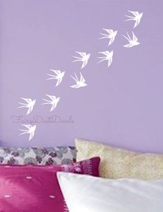 Swallow Bird Wall Decals set of 10 by FairyDustDecals on Etsy, $25.00