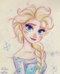 Elsa drawing by David Gilson #Elsa #Disney