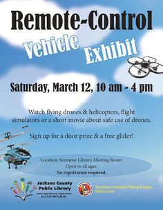 THIS PROGRAM HAS EXPIRED - Visit the Remote-Control Vehicle Exhibit to see flying drones, helicopters and flight simulators.  Sign up for a door prize!
