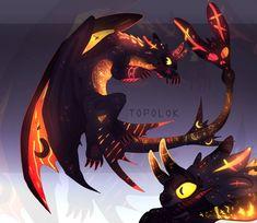 Mythical Creatures Art, Fantasy Creatures, Fantasy Dragon, Fantasy Art, Spyro And Cynder, Night Fury Dragon, Dragon Sketch, Httyd Dragons, Cute Animal Drawings Kawaii