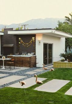 """""""C"""" love the pavers and modern feel. Not so much the birdies..."""