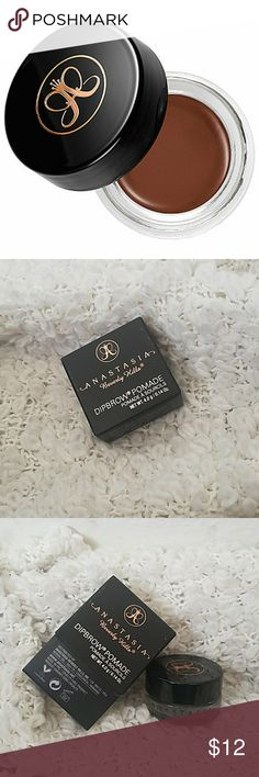 Anastasia dipbrow pomade - NEW IN BOX New, never used!  A smudge-free, waterproof pomade formula that performs as an all-in-one brow product.  COLOR: Auburn  ***All sales proceeds are donated to youth in need!  It's a win win, you get new makeup and help those in need :) Anastasia Beverly Hills Makeup Eyebrow Filler