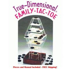 3-D tic-tac-toe for the whole family exclusively on Idealsmarter.com  #IDS #iDealSmarter