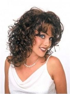 Poppy's+Hairstyle+Medium+Length+Curly+Dark+Brown+Lace+Wig+about+16+Inches+For+Fashion