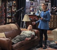 Amy and Sheldon playing Doctor, Star Trek style