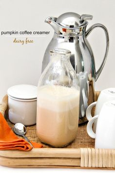 Love Pumpkin Spice Lattes but don't want to pay coffee shop prices? This delicious homemade dairy-free pumpkin spice coffee creamer recipe is so easy to make and much healthier than the storebought variety.