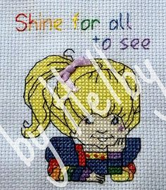 Cross stitch pattern - Rainbow Brite. $4.00, via Etsy.