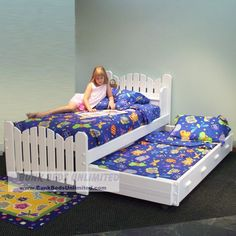 Trundle Bed Plan Picket Fence Bed Pea Patch Model